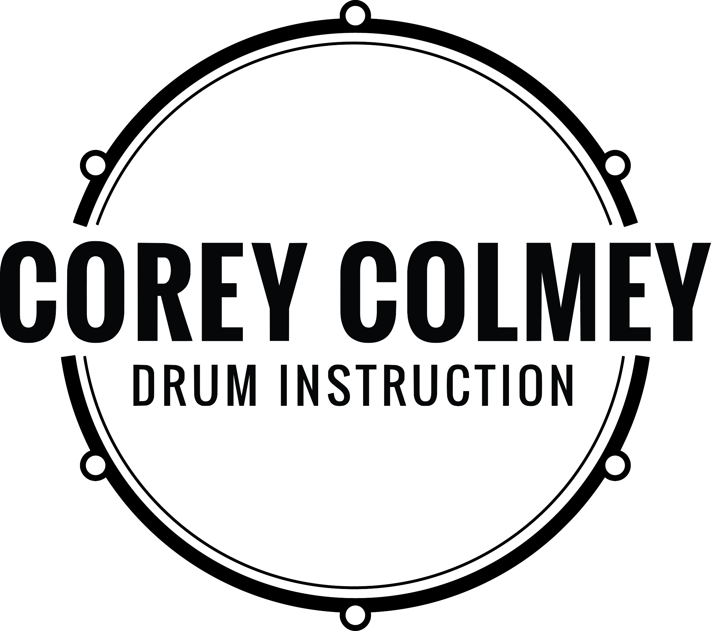 Corey Colmey Drum Instruction logo